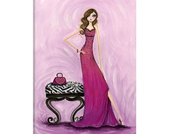 iCanvas Best dress Gem Dress Gallery Wrapped Canvas Art Print by Bella Pilar