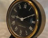 vintage black westclox wind up alarm clock made in Germany
