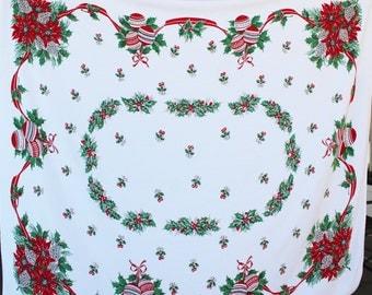 Vintage Christmas Tablecloth Rectangular