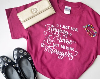 Introvert Hand Lettered Graphic T-shirt