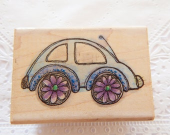 Baby Bug Rubber Stamp Whipper Snapper Designs Groovy Car