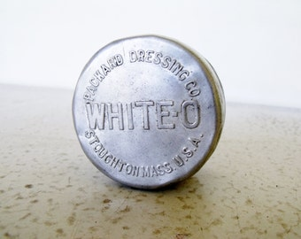 Vintage Tin White-O Shoe Leather Cleaner Packard Dressing Co.