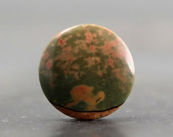 CLEARANCE - SALE - Picasso Jasper Cabochon Circle, Round, Coin, Earth Tone Ring, Pendant, Loose Gemstone CabochonsSuccor Creek (CA2182)