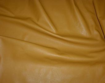 "Leather 12""x12"" DIVINE Dijon Mustard Yellow top Grain Cowhide  2.5 oz / 1mm - PeggySueAlso™ E2885-21"