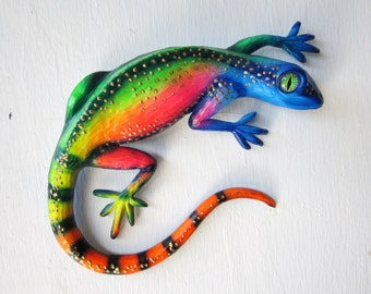 lizard,reptile,gecko wall decor,lizard wall art sculpture