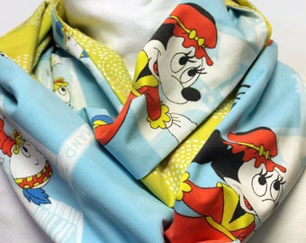 Vintage Disneyland Women's infinity Scarf with Pocket