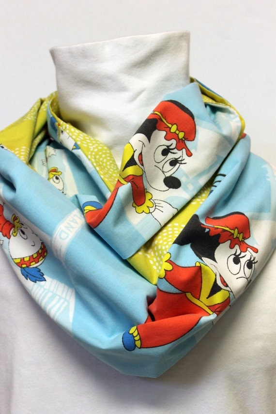 Vintage Disneyland Women's infinity Scarf with Pocket