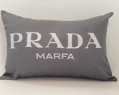"18""X12"" Prada Marfa Pillow Cover"