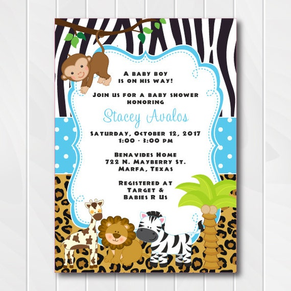 Pink Safari Baby Shower Invitations as amazing invitations ideas