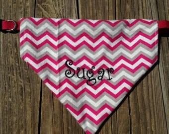 Embroidered dog bandanas - monogrammed bandanas for your dog or pet