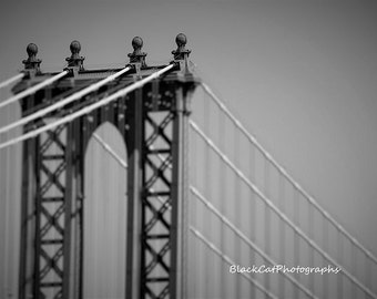 Manhattan Bridge New York City Loft Wall Art NYC Photo Print Black and White Contemporary Art Modern Home Urban Home Decor Architecture