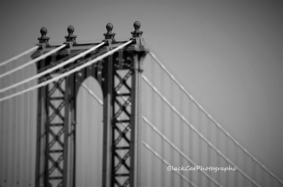Brooklyn bridge new york city large wall art nyc photo print for Brooklyn bridge black and white wall mural