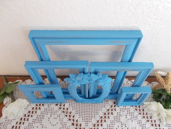 Home Collection Blue Distressed Frame By Studio Decor