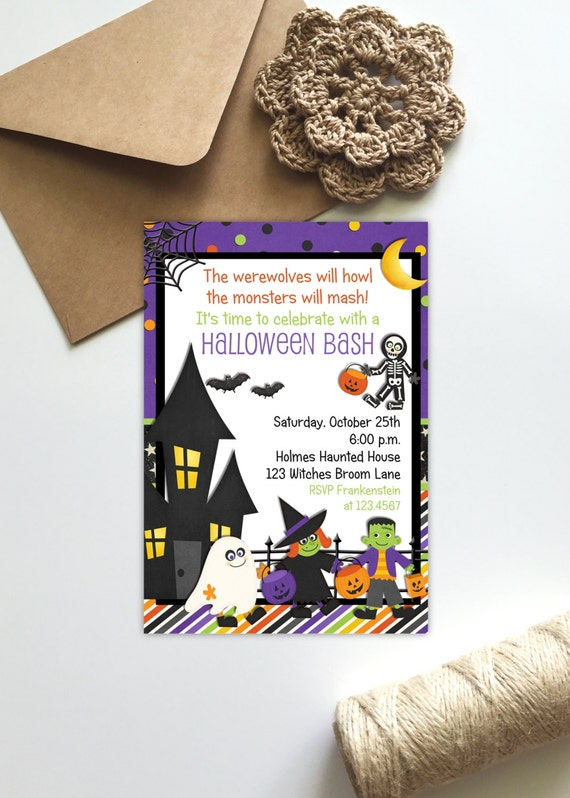 Halloween Invitation for Kids Costume Party