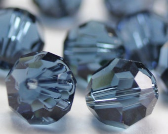 Promotion Item - 100 pcs Swarovski Elements 5000 5mm Crystal Round Beads - MONTANA (While Stocks Last)