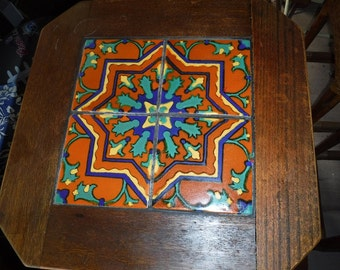 CA/Mission Era Tile & wood Table California Tile