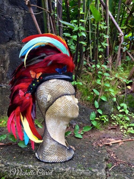Phenix V3  - Customizable Feather Mohawk / Headdress