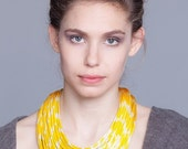 Shibori fabric necklace, fabric necklace, bold necklace, statement necklace.
