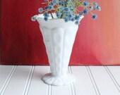 Westmoreland milk glass vase, mid century
