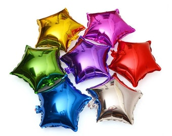 """5"""" Mini Star Balloons/birthday party balloons/wedding/Anniversary Party/Valentines Party/Air-Fill Only"""