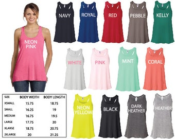 6 Real Bride, Bridesmaid or Maid of Honor Flowy Racerback Tank Tops