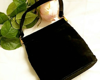 Vintage Margaret Smith Black Velvet Evening Bag