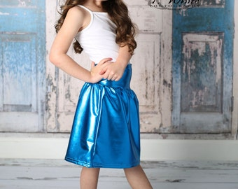 Girls Metalic Skirt