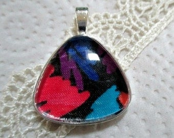 Colorful Floral Fabric Pendant