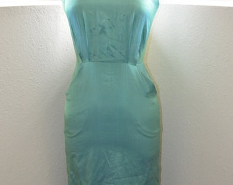 Vintage Iridescent Blue / Green Wiggle Dress - Women's 3 / 4 (XS)