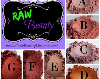Natural Makeup - Mineral Powder Blush - Matte Mineral Blush - Natural Blush - Loose Blush Powder by RAW Beauty LLC