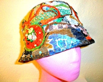 Women's hat Hand made fall hat Winter hat  Hand stitched