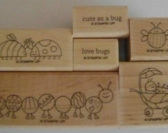 Stampin'Up! Set of Little Love Bugs & Critters stamps