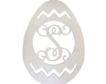 Wooden Easter Egg Monogram