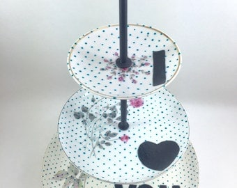 I Heart You Hand Painted Jewelry Stand 3 Tier