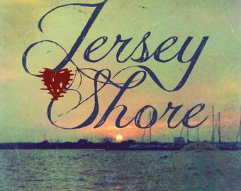 Heart the Jersey Shore | Beach House Decor | Product Options and Pricing via Dropdown Menu
