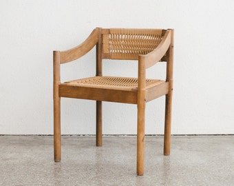 Mid Century Woven Arm Chair