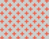 Four Corners Orange Weave on Gray from Riley Blake's Four Corner Collection by Simple Simon & Company
