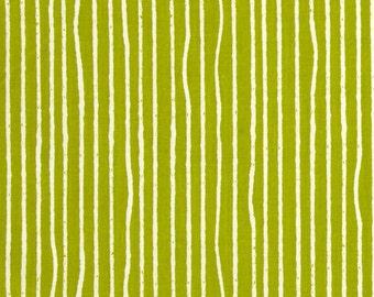Grass Green Yarn Stripes From Birch Organic Fabric's Farm Fresh Collection by Jay-Cyn Designs