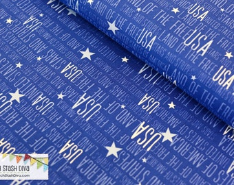 USA on Blue by Windham Fabrics