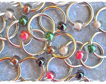 "Ringers ""Winter"" stitch markers / ring markers / knitting markers / snag free"