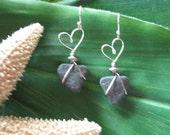 Silver Heart Earrings/Eco/Boho/Valentine Gift