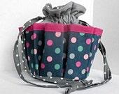 Multi-colored Polka Dot  Bingo Bag - Also Great for Craft & Make-up Organizer
