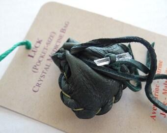 Luck Handmade Pocket Size Crystal Mojo Medicine Bag