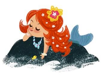Mermaid Mini Giclée Print