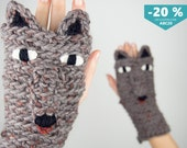Wolf Fingerless Gloves ~ FREE Shipping Worldwide