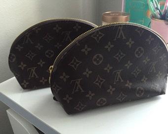 Faux leather makeup bag set- Large size bags
