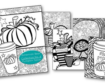 Zentangle Coloring Book | Collection No 4. Pumpkin Spice