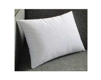 White Velvet Solid Decorative Throw Pillow Cover / Pillow Case / Cushion Cover / 12x16""