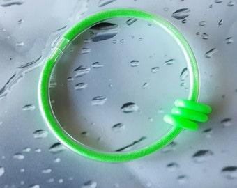 Lime Green Beaded Neon Glitter Tubez Stim Toy Fidget Bracelet