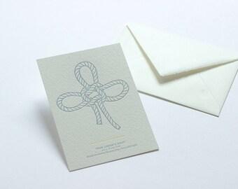 Letterpress Knot Postcard - Lover's Knot.